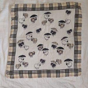 Burberry sheep and umbrellas scarf
